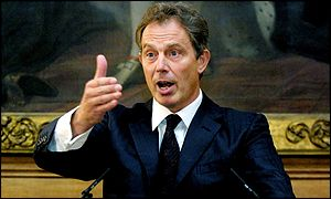 Tony Blair speaks in Number 10 on Wednesday