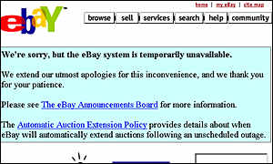 eBay was one of the sites targeted by hackers