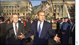 President Bush at the Pentagon