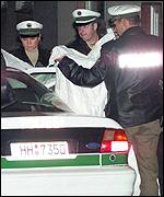 Police in Hamburg protect the identity of a detainee