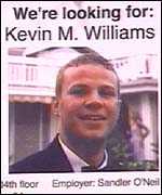Flyer for Kevin Williams - picture courtesy of ABC