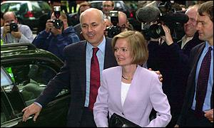 Iain Duncan Smith and his wife Betsy arrive at Conservative Central Office