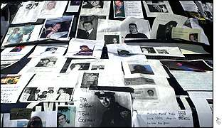 Missing victims leaflets