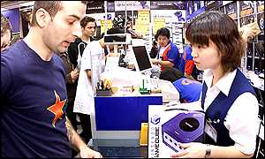 A foreigner in Tokyo joins the queues for a GameCube AFP