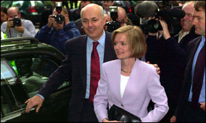 New Tory leader Iain Duncan Smith and wife Betsy