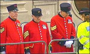 Chelsea pensioners in London