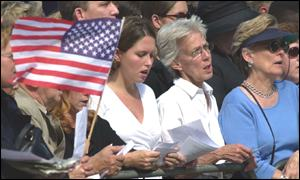 Americans paying respects to the US dead at St Paul's