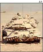 US tank during the Gulf War