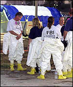 FBI evidence team outside the Pentagon