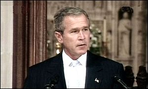 President Bush speaks at memorial service