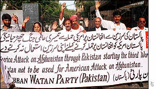 Supporters of Muhibban-e-Watan Party make their feelings plain