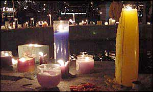 Candles in shrine