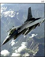 US Air Force F-16 in flight