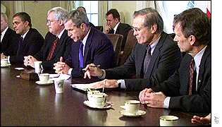 President Bush at White House meeting on Wednesday