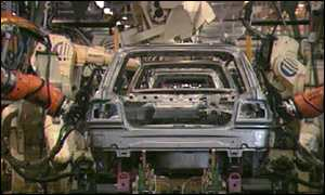 Production line at Ford plant