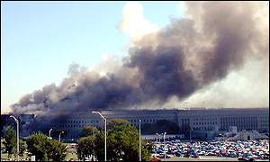 Pentagon in flames AFP