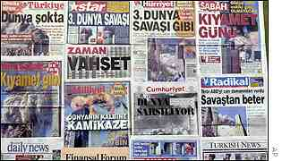 Turkish newspaper headlines