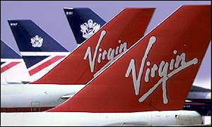 Virgin Atlantic tail fins
