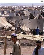 About 80,000 Afghan refugees live in this makeshift camp in Jalozai