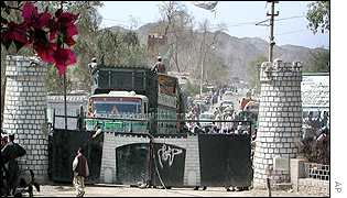 The Afghan Pakistan border at Torkham