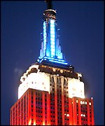 Empire State Building lit up