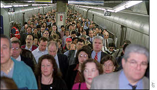 Commuters in New York returning to work