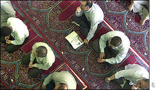 Iranian people gathered at Tehran university during Friday prayers
