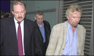 BA chief executive Rod Eddington, left, with Virgin Atlantic chairman Sir Richard Branson prior to the meeting