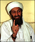 [ image: Target: bin Laden is reported to have escaped the bombing and shifted to an unknown location]
