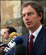 [ image: Tony Blair: First leader contacted by Clinton]
