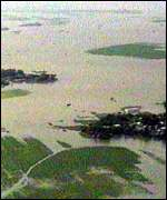 [ image: Over 700,000 hectares of farm land have been flooded]