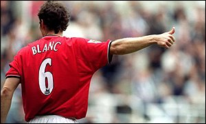Manchester United's French defender Laurent Blanc