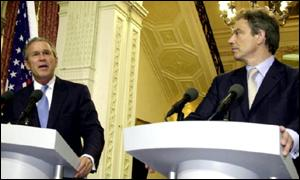 President George Bush and prime minister Tony Blair