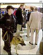 Police at Boston's Logan International Airport