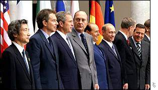 Tony Blair with other G8 leaders