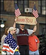 NY residents line up to say thanks