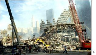 Rubble of the World Trade Center