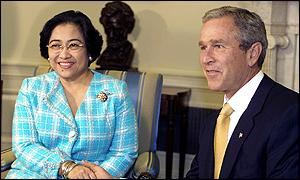 President Megawati and President Bush