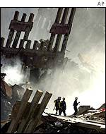 Wreckage at the World Trade Center