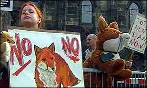 Anti-hunt protesters