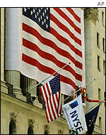 The front of the New York Stock Exchange following World Trade Center attacks