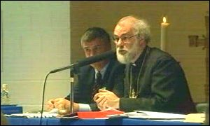 Dr Rowan Williams at the Church in Wales governing body