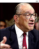 Federal Reserve Chairman Alan Greenspan in testimony before the US Congress