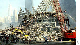 World Trade Center towers wreckage