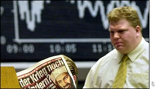 Traders on the Frankfurt Stock Exchange