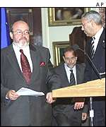 Louis Michel and Colin Powell