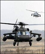 US Army black hawks
