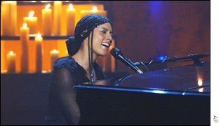 Alicia Keys, during a poignant moment at the telethon