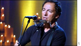 Opening performer Bruce Springsteen