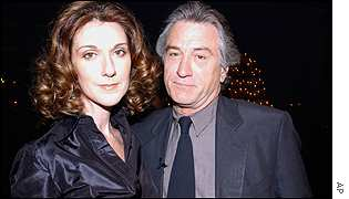 Celine Dion with Robert de Niro